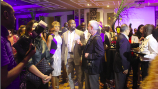 Actors mingling with the guests