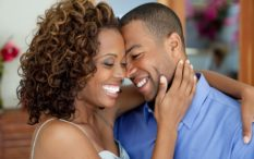 black-couple happy