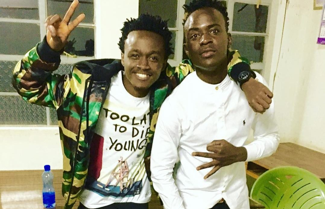 Willy Paul and Bahati together