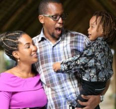 Dru ,Husband Dan and Son Djibril during her pregnancy