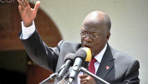 30 Oct 2015, Dar es Salaam, Tanzania --- Tanzania's President elect John Pombe Magufuli addresses members of the ruling Chama Cha Mapinduzi Party (CCM) at the party's sub-head office on Lumumba road in Dar es Salaam, October 30, 2015. Tanzania's ruling party candidate, John Magufuli, was declared winner on Thursday of a presidential election, after the national electoral body dismissed opposition complaints about the process and a demand for a recount. The election has been the most hotly contested race in the more than half a century of rule by the Chama Cha Mapinduzi Party, which fielded Magufuli, 56, a minister for public works. REUTERS/Sadi Said --- Image by © SADI SAID/Reuters/Corbis