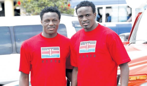 The Mariga brothers Macdonald and Victor Wanyama