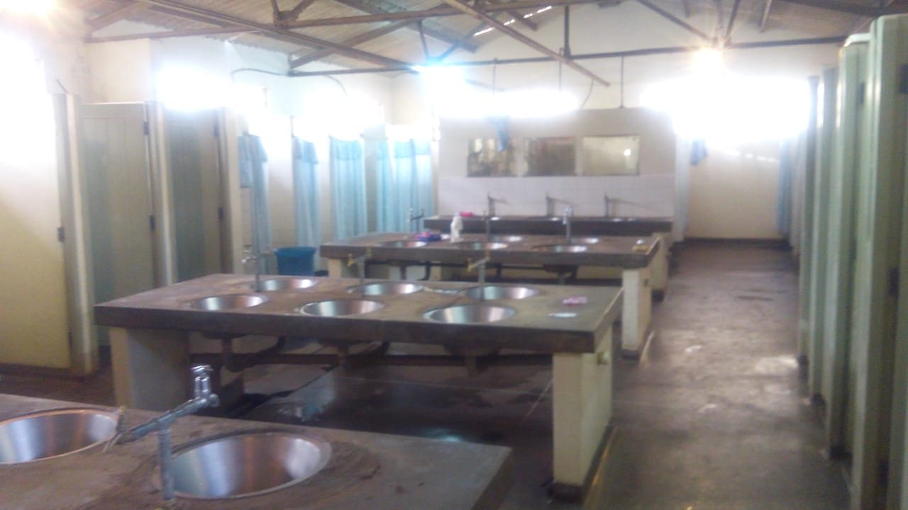Bathroom of Elgon dorm where one student alleges she Was raped
