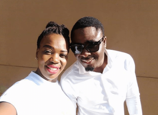 Ruth Matete with her boyfriend beloved John