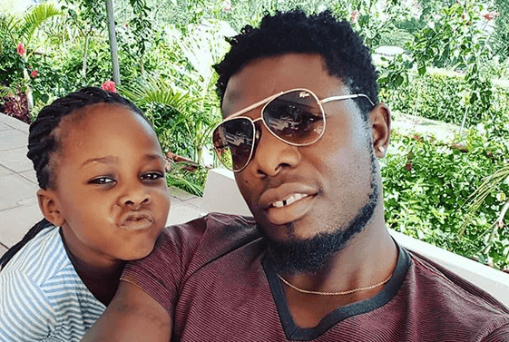 Allan Wanga and his daughter