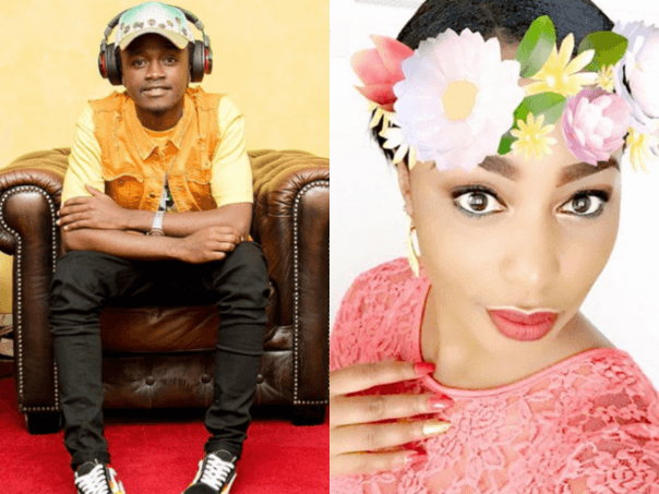 Bahati with wife Diana Marua