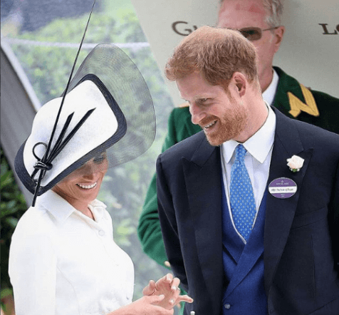 Meghan Markle with her hubby Prince Harry