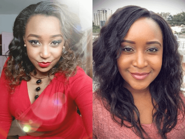 Right:Betty Kyallo with her sister Mercy Kyallo