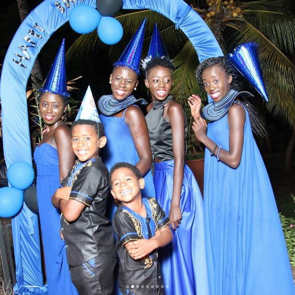 Akothee with her 5 kids