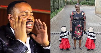 Ben Githae and Rose Wanjiru with their twin daughters