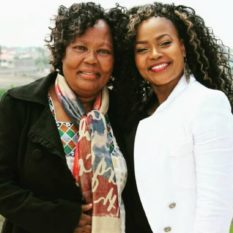 Rozinah with her late mother