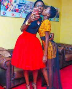 Akothee with her daughter Rue