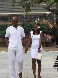 Bob-Collymore-with his wife Wambui