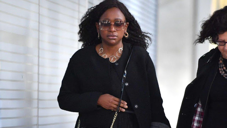 Esther Arunga heading to the courthouse