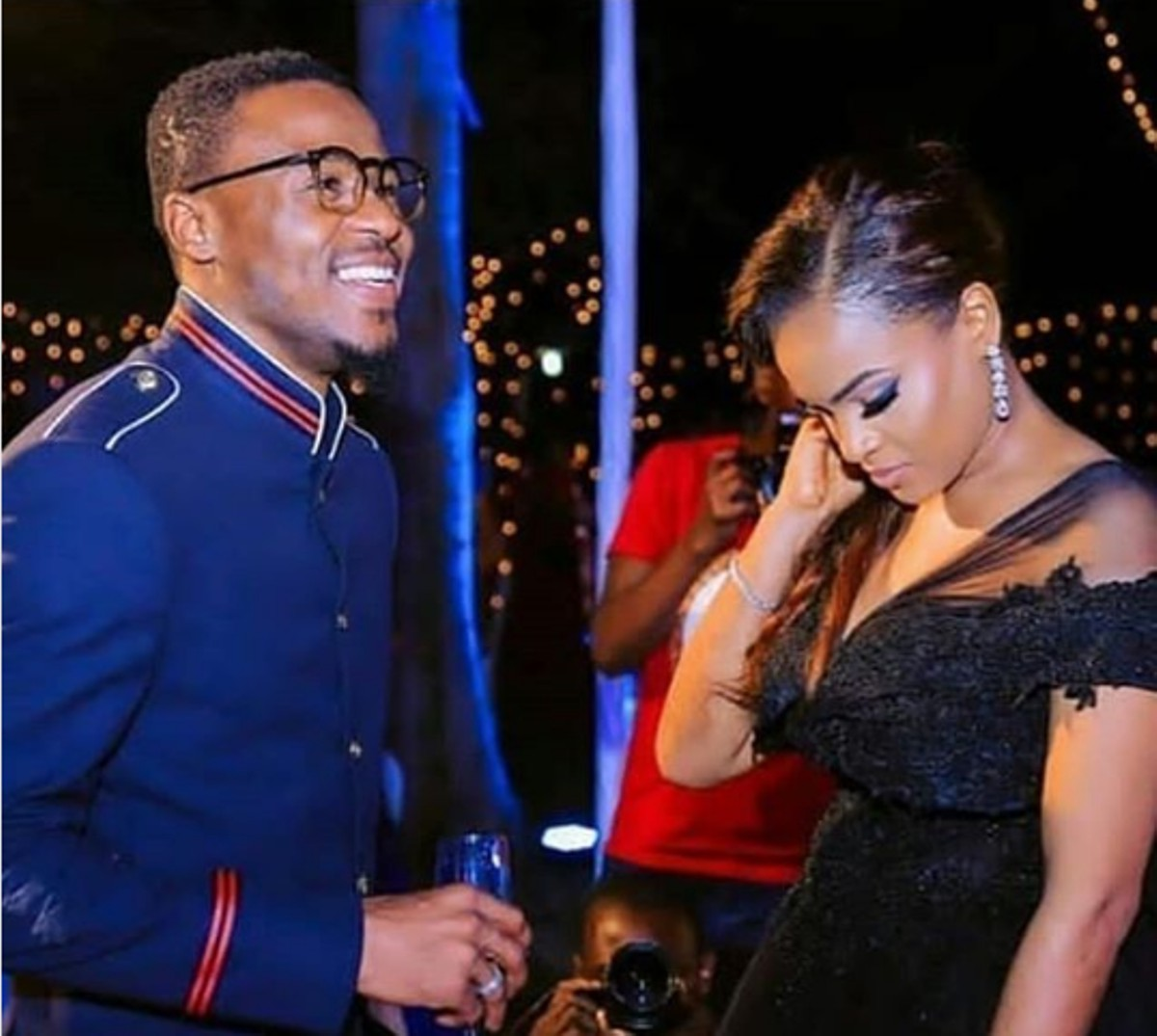 Ali Kiba with his wife Amina