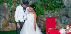 DJ Mo with Size 8 on their marriage anniversary