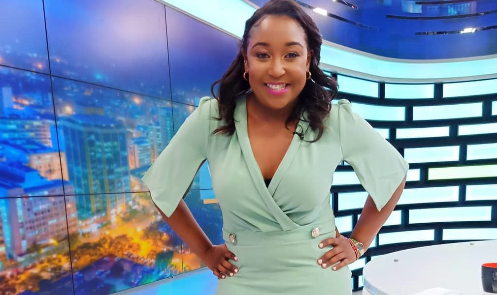 Betty Kyallo in turquoise
