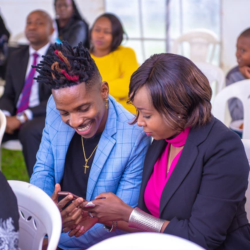 The journalist with Eric Omondi