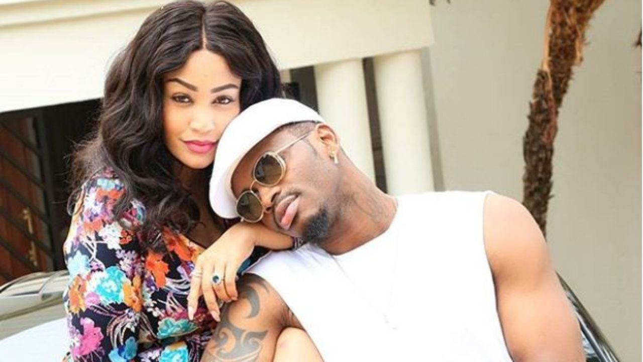 Zari Hassan with Diamond Platnumz in the past