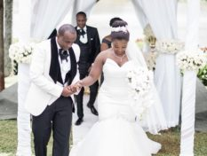 Kate Actress with Phil Karanja on their wedding day