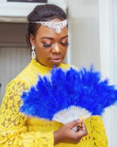 Ruth Matete wearing many colours