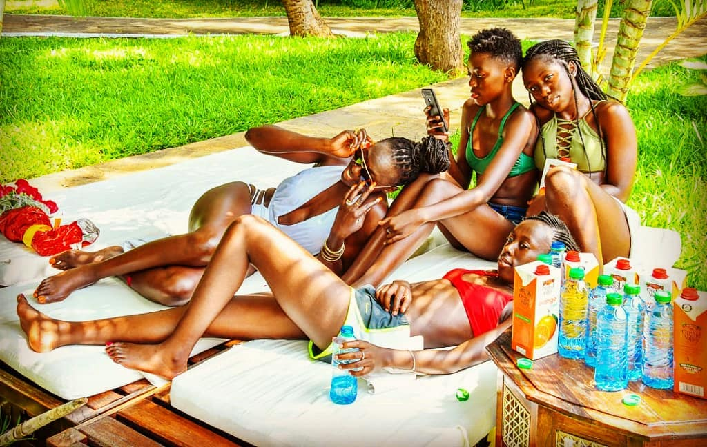 Akothee with her daughters
