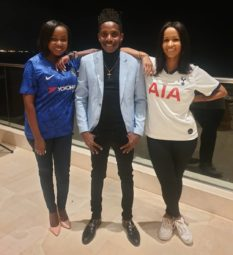 Eric Omondi with Jacque Maribe and Chantal Graziano