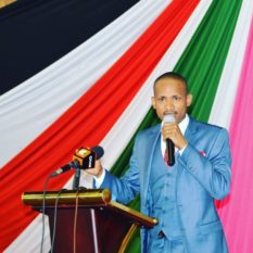 Babu Owino on stage