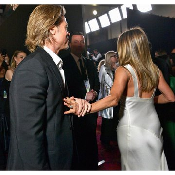 brad pitt grabs jennifer anoston hand