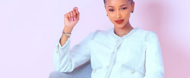 Huddah Monroe in white