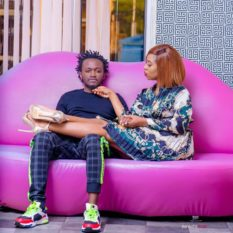 Bahati with his wife Diana Marua