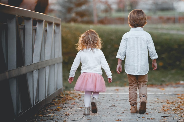Boy and Girl walking