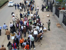 Kenyans Queueing