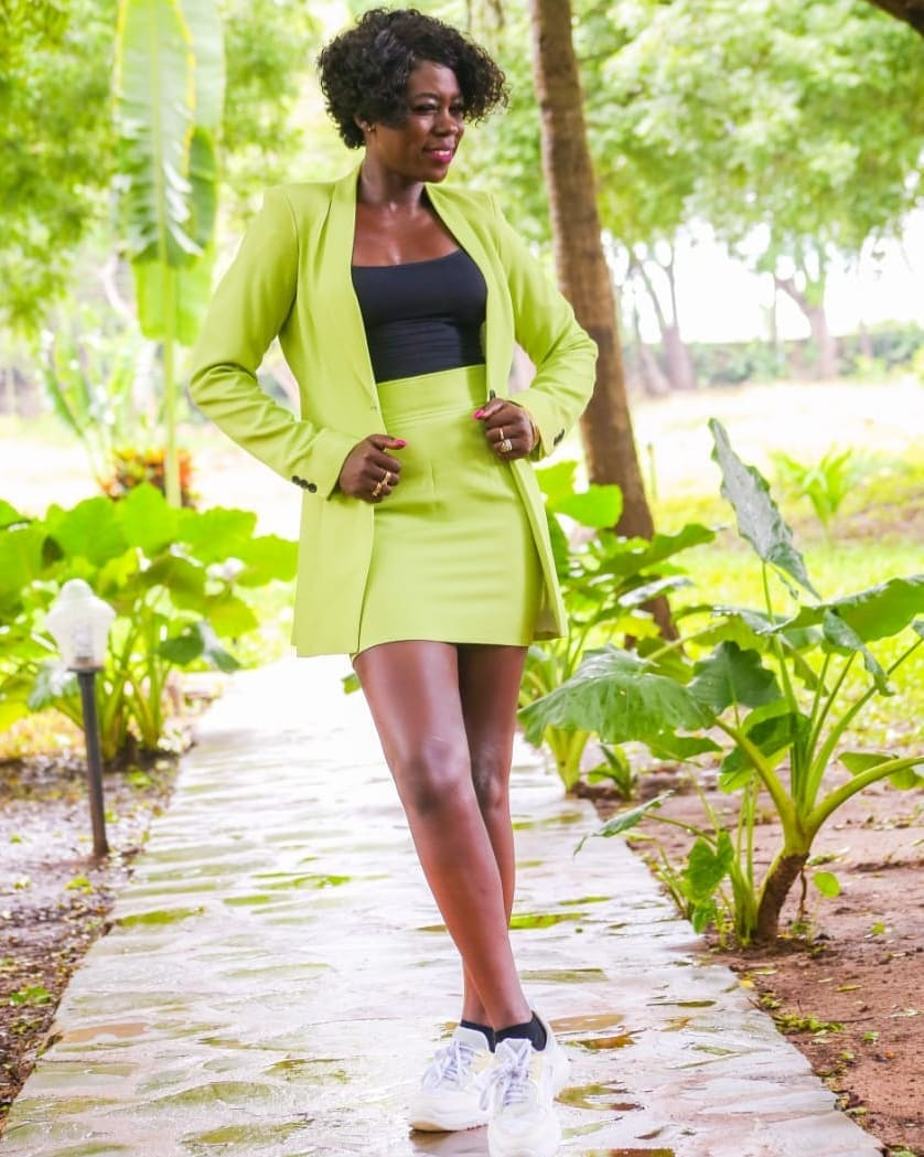 Akothee in the outfit in question