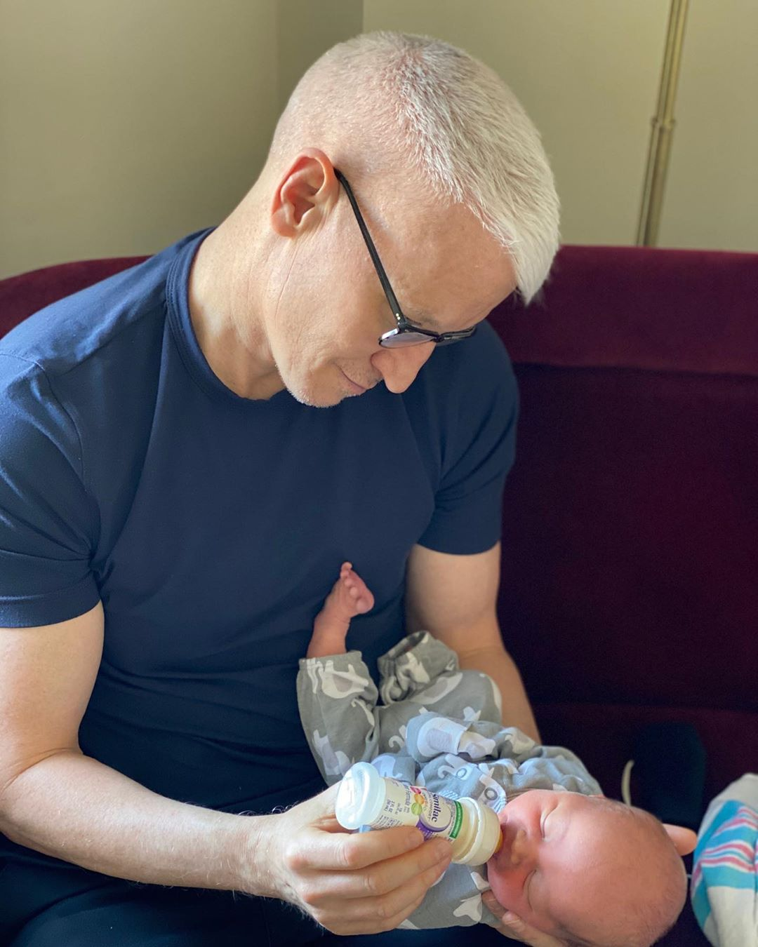 Anderson Cooper with his son, Wyatt