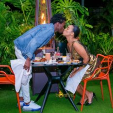 Bahati with Diana Marua kissing