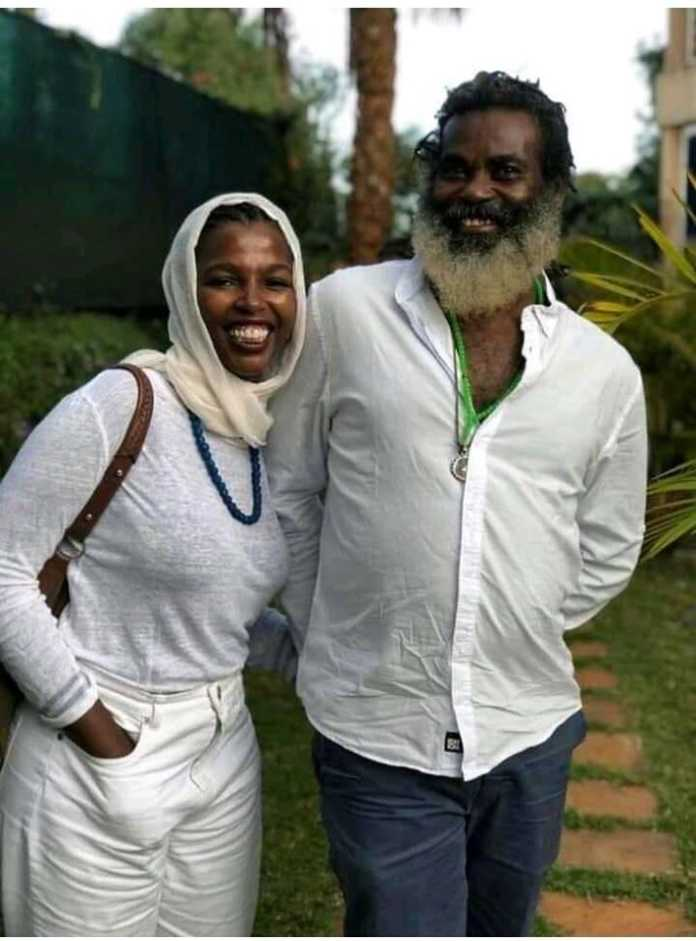 Tecra Muigai and Omar Lali in the past