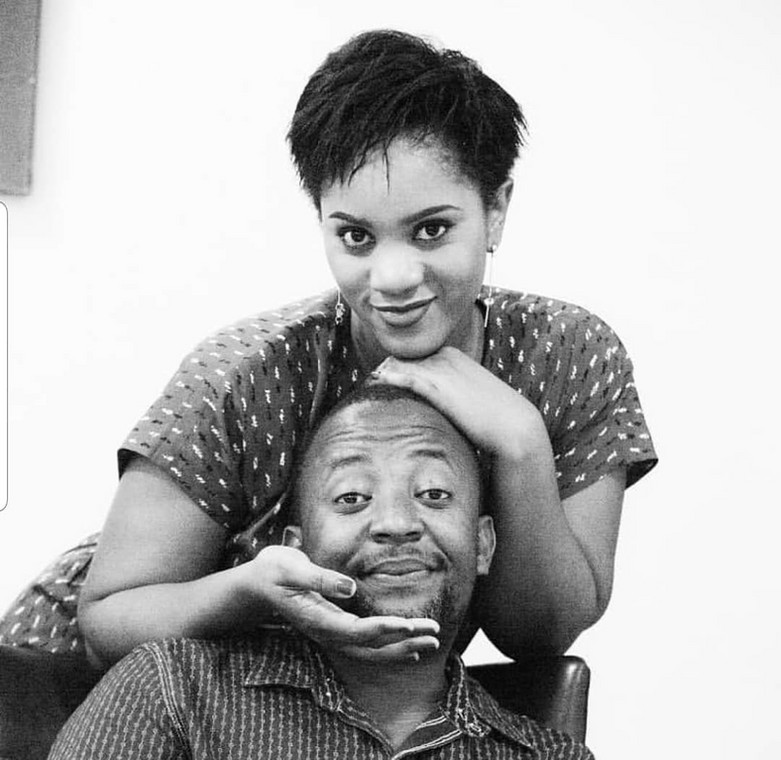 Babu Tale with his late wife