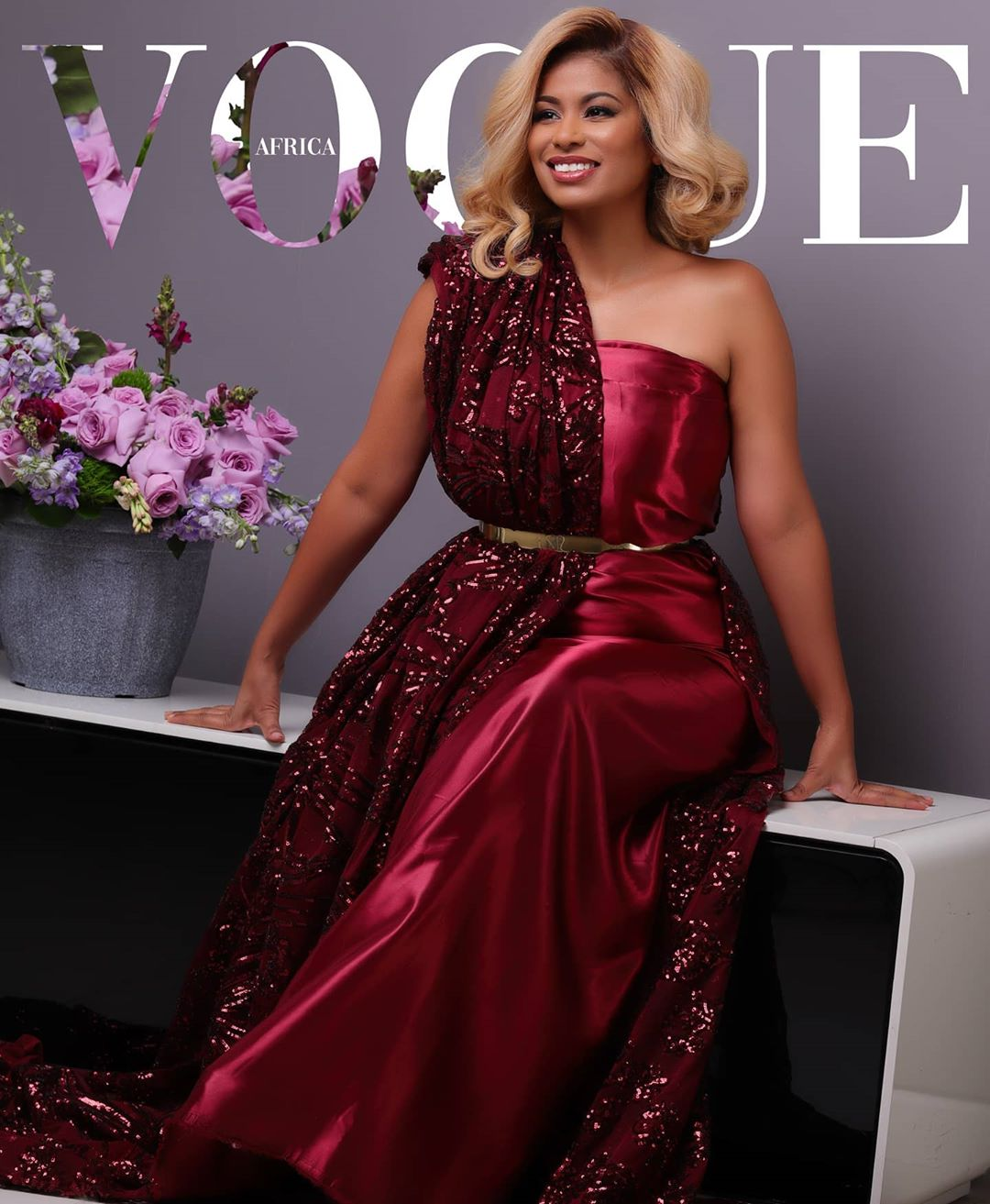Julie Gichuru doing the Vogue Challenge
