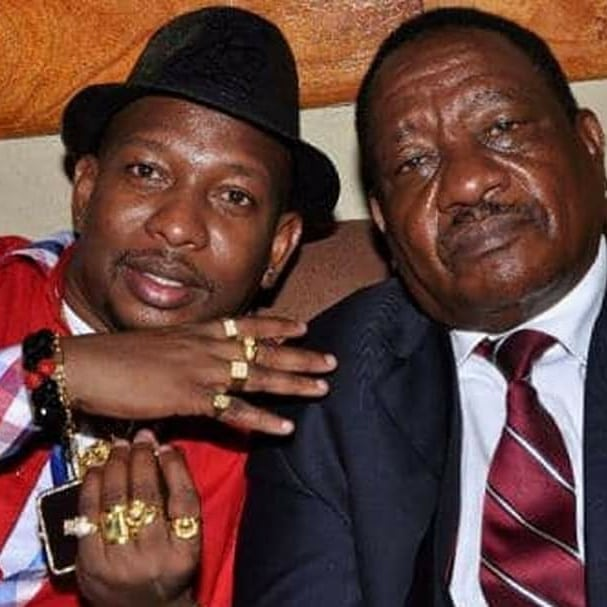 Mike Sonko with his late father