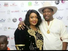 Mike Sonko with his wife