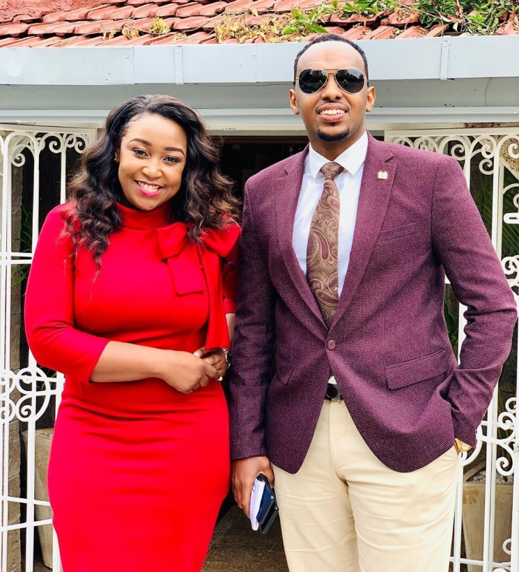 Alinur Mohamed with Betty Kyallo