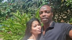 Julie Gichuru with her husband Anthony