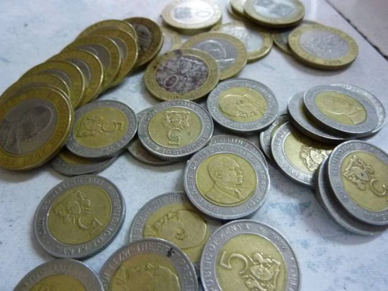Kenyan currency in coins