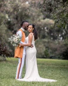 Junior Nyong'o with his new wife