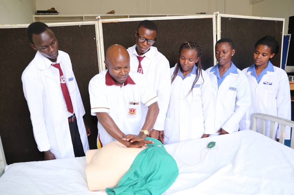 Orthopaedic and Trauma Medicine students during a training session at KMTC