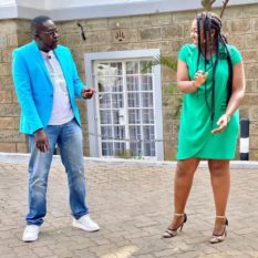 Betty Kyallo with Churchill Ndambuki