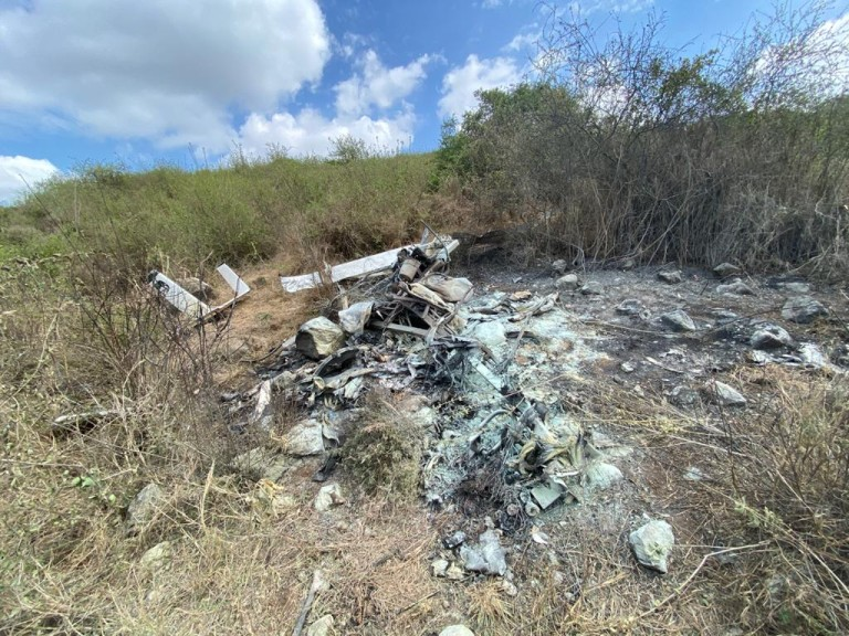 KWS chopper crashed