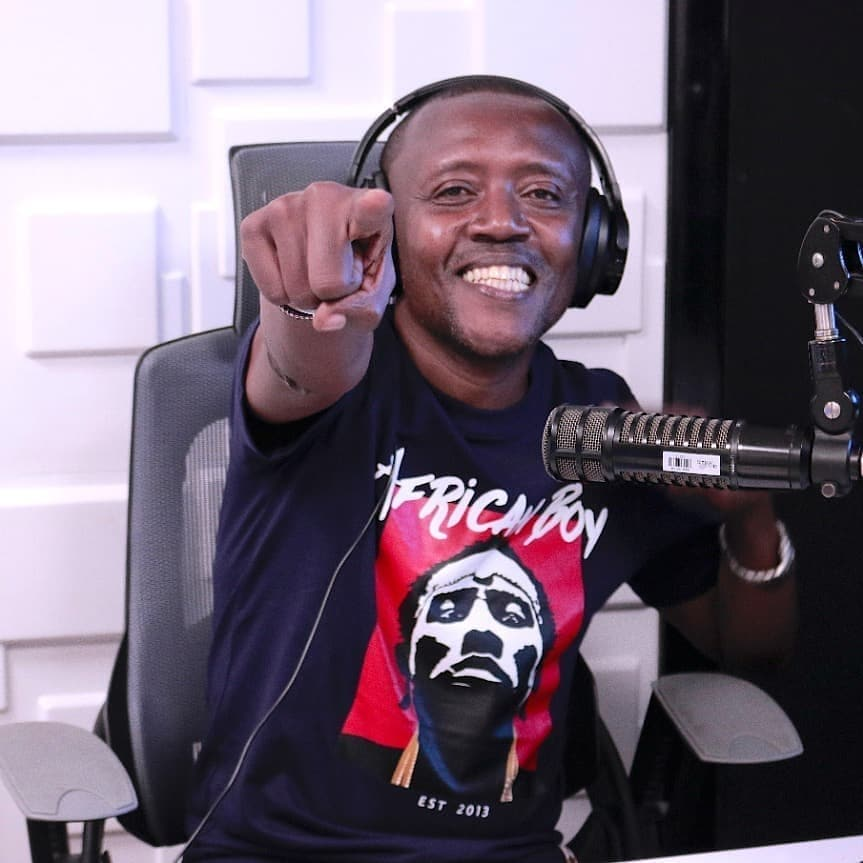 Maina Kageni smiling