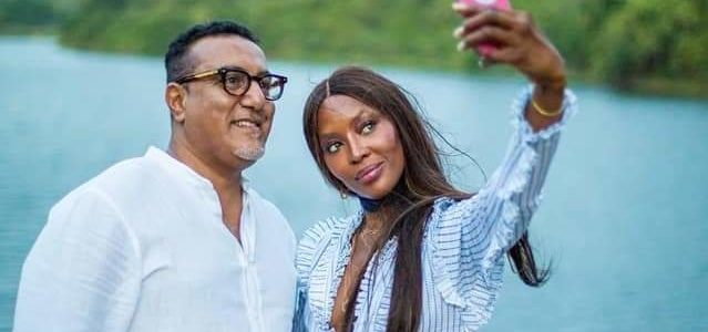 Naomi Campbell with Najib Balala
